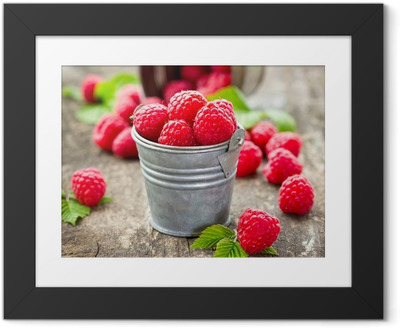 Fresh raspberry Framed Poster