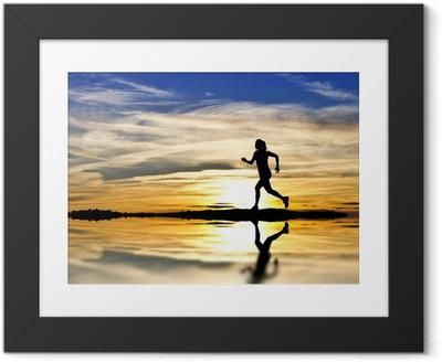 Poster i Ram Corriendo por la orilla del Lago