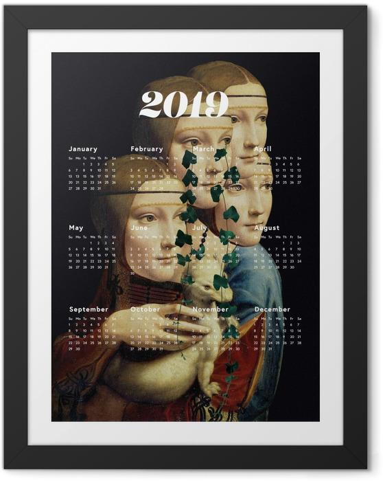 Çerçeveli Poster Kalendarz 2019 - kadınlar ve sanat -