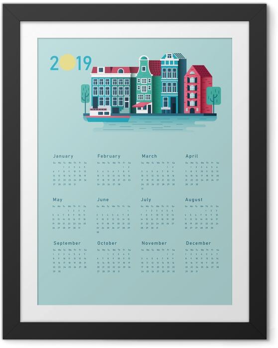 Plakat w ramie Kalendarz 2019 - słoneczny dom - Kalendarze 2018
