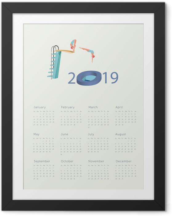 Çerçeveli Poster Takvim 2019 - Yeni yıl içine atlama -