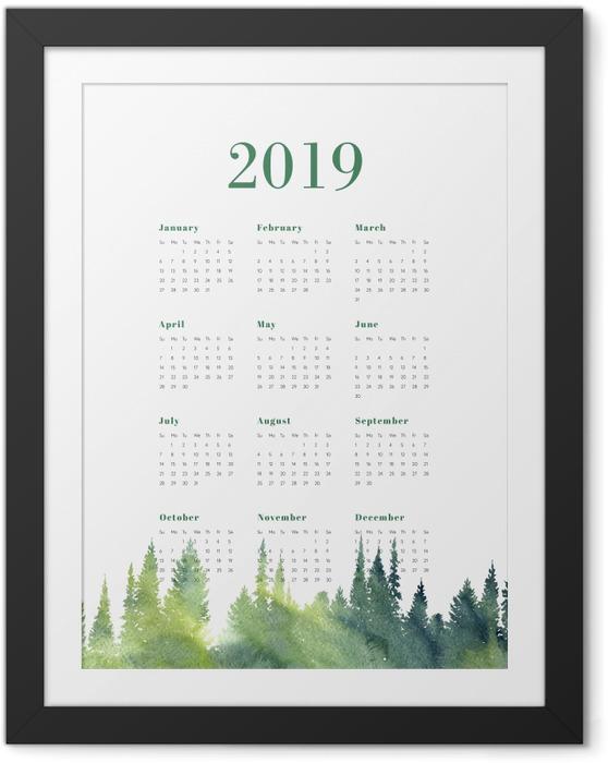 Póster com Moldura Calendário 2019 – Floresta -