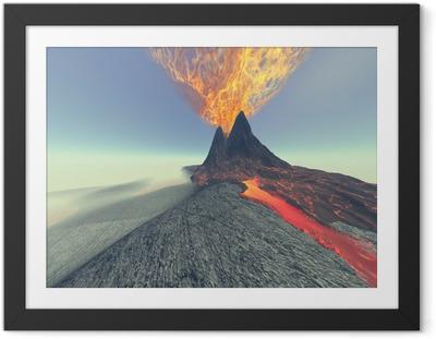 Poster en cadre Volcan