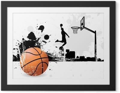 Gerahmtes Poster Basketball-Spieler