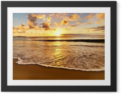 Plakat w ramie Piękny zachód słońca na plaży