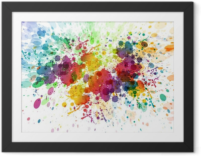raster version of Abstract colorful splash background Framed Poster