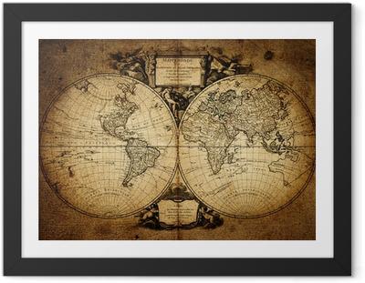 map of world 1752 Framed Poster