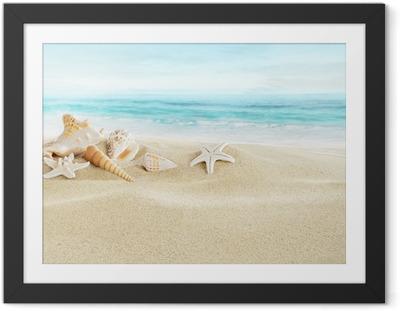 Póster Enmarcado Los depósitos en la playa de arena