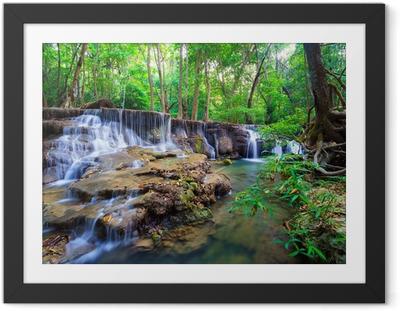 Poster i Ram Djup skog vattenfall i Kanchanaburi, Thailand