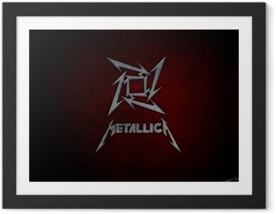 Póster com Moldura Metallica