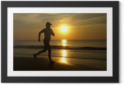 Løbende kvinde Indrammet plakat