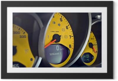 Poster en cadre PORSCHE MotorSport-Detail - Sur la route