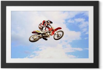 Poster en cadre Motocross dans le ciel