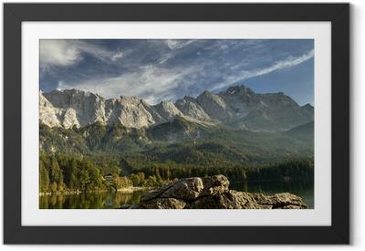 Gerahmtes Poster Blick vom Eibsee zur Zugspitze