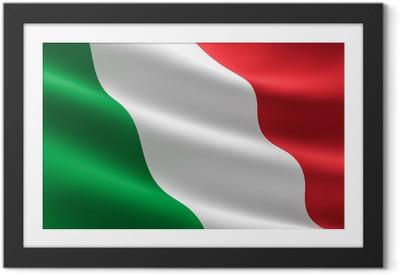 Poster en cadre Drapeau italien