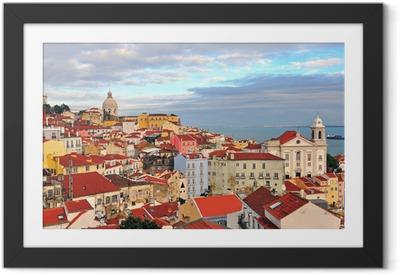 Póster com Moldura Multicolor houses of Lisbon