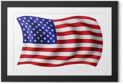 Plakat w ramie Flaga USA Stany Zjednoczone - American flag