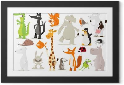 Poster en cadre Collection d'animaux pour enfants