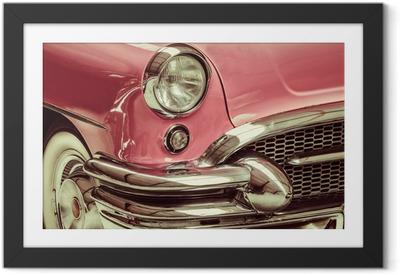 Poster en cadre Rétro image de style d'un front d'une voiture classique