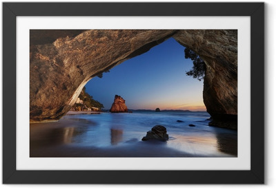 Cathedral Cove, New Zealand Framed Poster