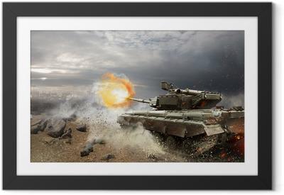 Plakat w ramie Ciężka zbroja w ogniu walki