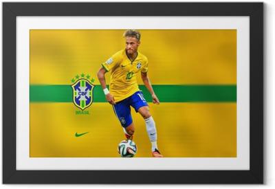 Gerahmtes Poster Neymar