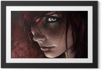 Póster com Moldura Katarina - League of Legends