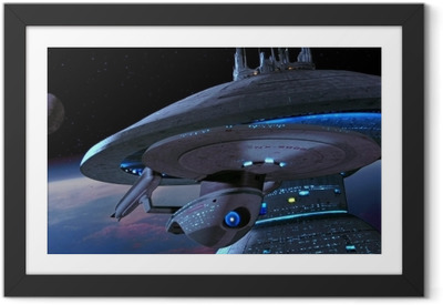 Póster com Moldura Ship from Star Trek
