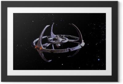 Póster com Moldura Star Trek