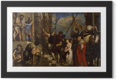 Tizian - Ecce Homo Kehystetty juliste
