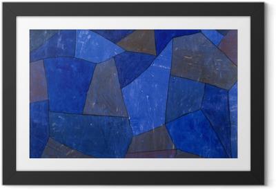 Gerahmtes Poster Paul Klee - Felsen in der Nacht