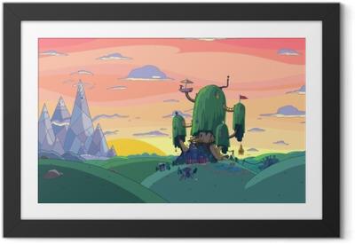 Adventure Time: Fort Framed Poster