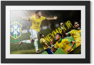 Poster in Cornice Neymar