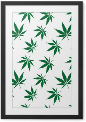 cannabis seamless pattern extended Framed Poster