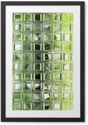 Poster in Cornice Senza soluzione di piastrelle di vetro verde texture di sfondo, cucina o bathro