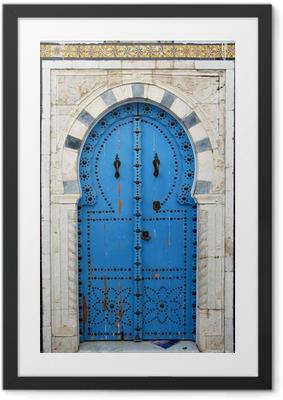 Arab door Framed Poster