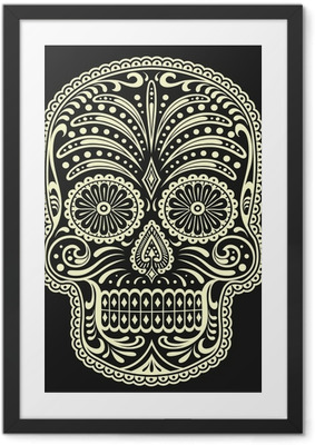 Poster en cadre Sugar skull