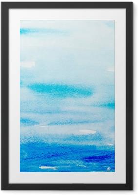 Poster en cadre Touches de couleurs aquarelle art peinture