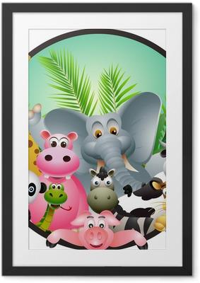 Ingelijste Poster Beeldverhaal dier