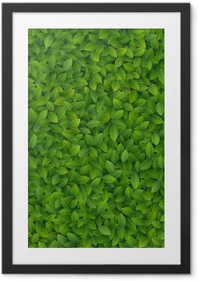 Green leaves texture. Framed Poster