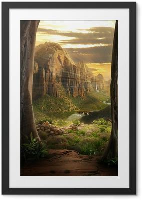 Gerahmtes Poster Phantasy Landscape