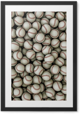 Plakat w ramie Background Baseballs