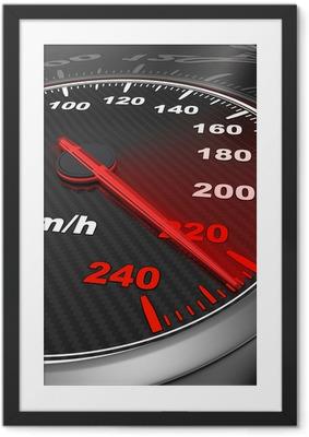 Poster en cadre Car speedometer