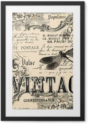 Póster Enmarcado Collage vintage