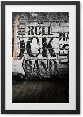 electric guitar in the room Framed Poster