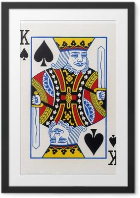 Plakat w ramie Grając w karty - King of Spades