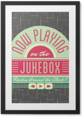 Poster in Cornice 1950 Jukebox Style Logo Design