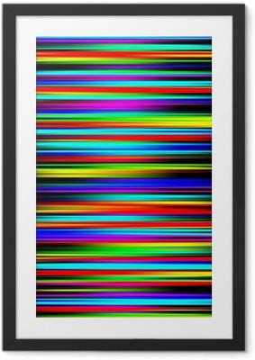 Gerahmtes Poster Bunte lebendige abstrakte absolvierte Streifenmuster.