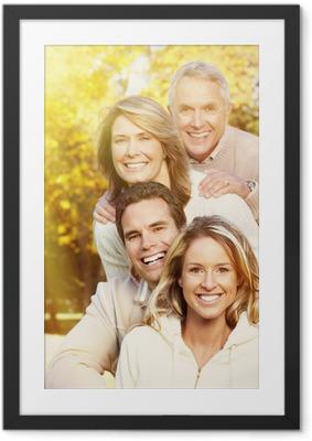 Póster com Moldura Happy family portrait.