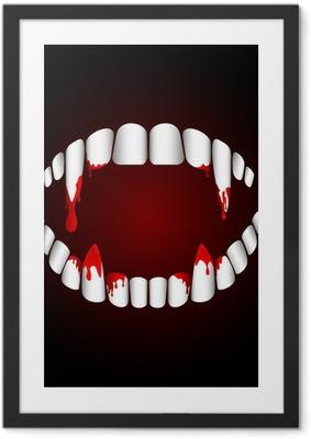 Ingelijste Poster Vampiertanden